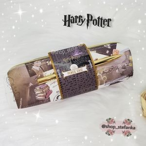 🎁 Harry Potter Hogwarts Pencil Case and Pen Set